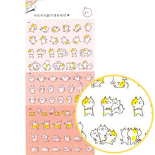 Cute Kitty Cat Cartoon Flip Book Storytelling Stickers
