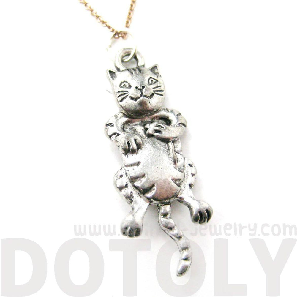 Adorable Detailed and Moveable Kitty Cat Charm Necklace | MADE IN USA
