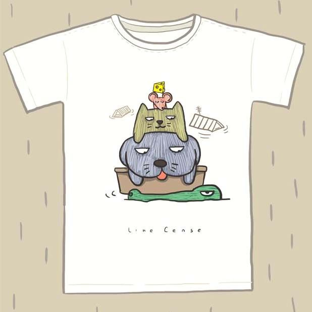 adorable-dog-cat-mouse-and-alligator-hand-drawn-illustration-animal-graphic-tee