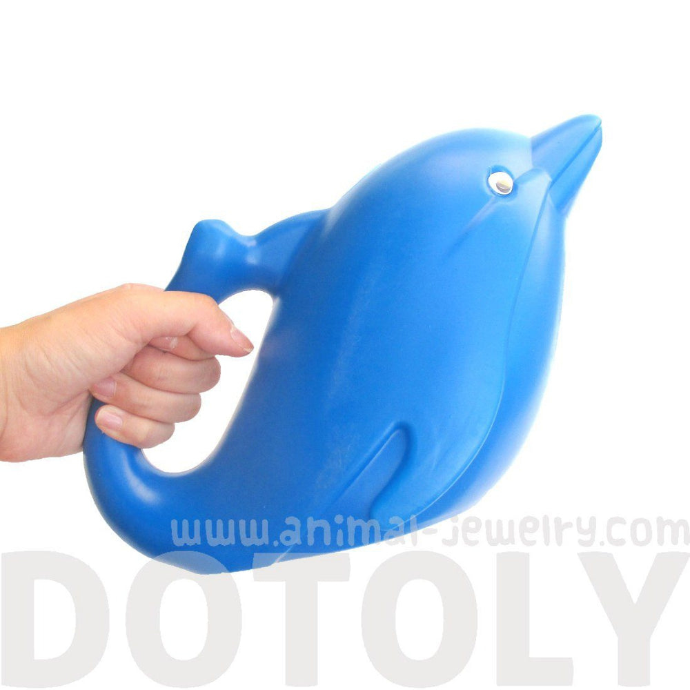 Adorable Dolphin Shaped Gardening Watering Can for Kids in Blue