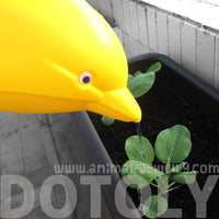 Adorable Dolphin Shaped Gardening Watering Can for Kids in Yellow