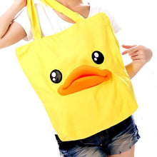 Adorable Duck Face With Rubber Mouth Shoulder Tote Bag