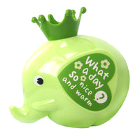 Adorable Elephant Shaped Money Box Piggy Coin Bank in Green | DOTOLY