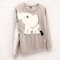 Elephant Trunk Arm Long Sleeve Round Neck Pullover Sweater for Women