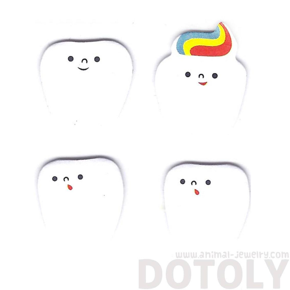 Adorable Emoji Teeth Tooth Shaped Adhesive Post-it Bookmark Tabs