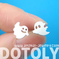 Adorable Ghost Shaped Mix & Match Stud Earrings in Silver | Allergy Free