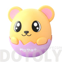 Adorable Hamster Gerbil Mouse Egg Shaped Money Box Piggy Coin Bank
