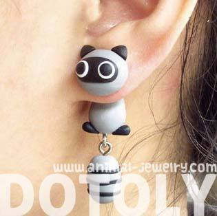 adorable-handmade-raccoon-fake-gauge-two-part-stud-earring-dotoly