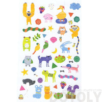 adorable-illustrated-monkey-chimpanzee-ostrich-weird-animal-shaped-stickers-for-scrapbooking