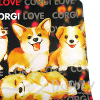Adorable Illustrated Welsh Corgis Graphic Print Oversized Tank Top