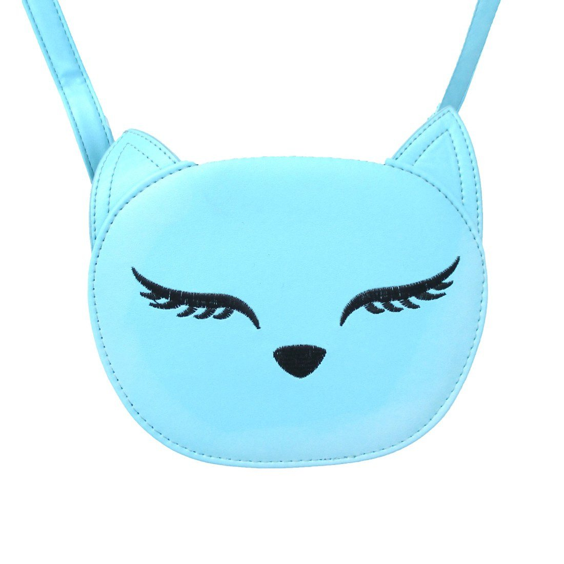 Kitty Cat Face Shaped xBody Bag for Women in Mint Blue