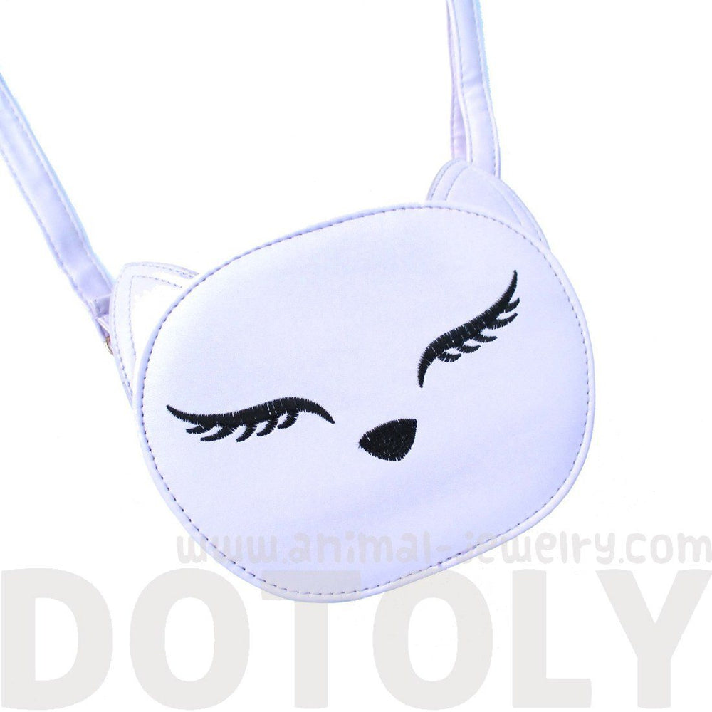 Purple Kitty Cat Face Shaped Cross body Bag for Women