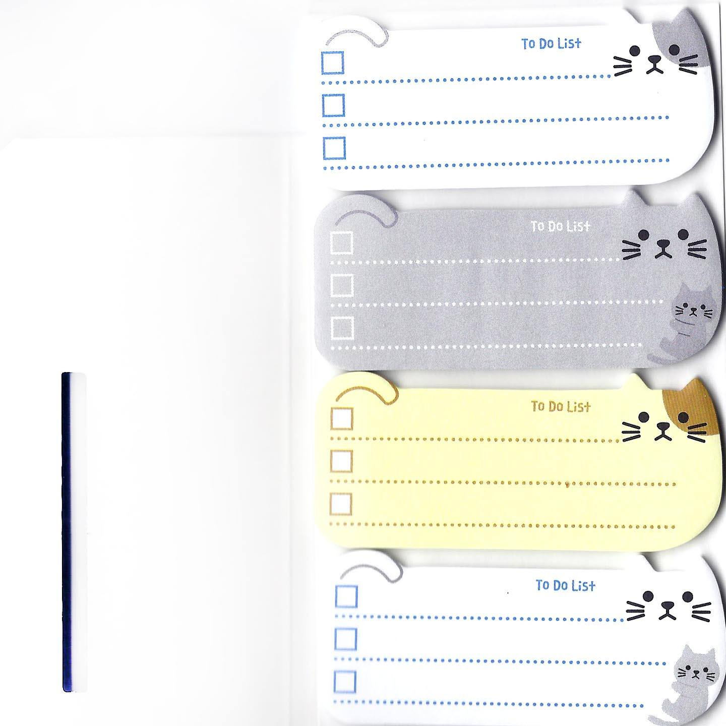 Adorable Kitty Cat Shaped Animal Themed Memo Post-it Sticky Note Pad
