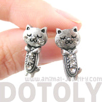 adorable-kitty-cat-shaped-stud-earrings-in-silver-with-rhinestones-dotoly