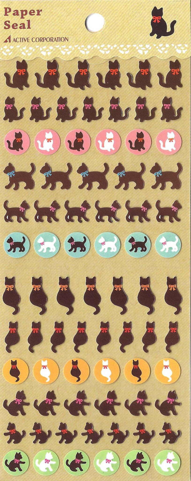 adorable-kitty-cat-silhouette-animal-stickers-for-scrapbooking-and-decorating