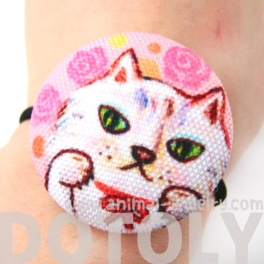 adorable-kitty-cat-with-pink-roses-button-hair-tie-pony-tail-holder