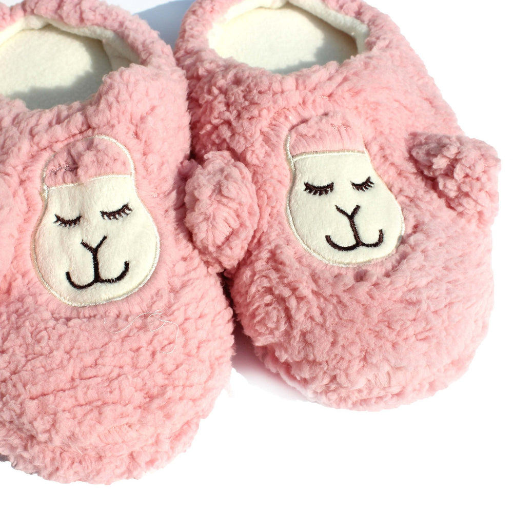 Adorable Lamb Sheep Animal Shaped Slip-On At Home Slippers for Women