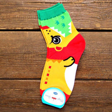 Adorable Lion Bite Socks Animal Shaped Short Cotton Socks for Women