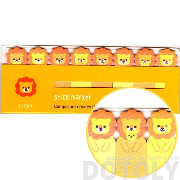 Lion Shaped Memo Pad Post-it Tabs | Animal Stationery