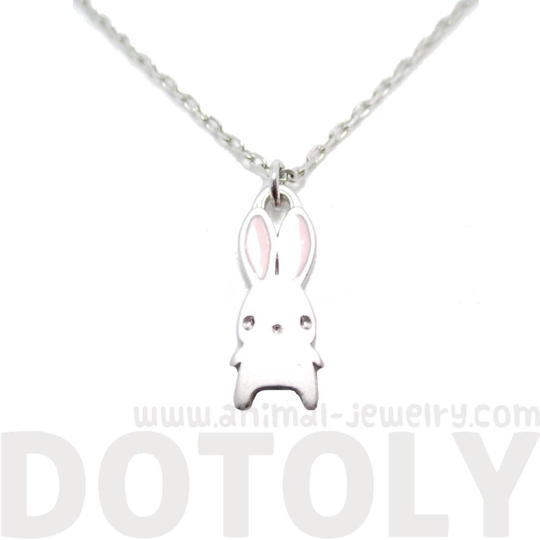 Adorable Little Cartoon Bunny Rabbit Shaped Necklace