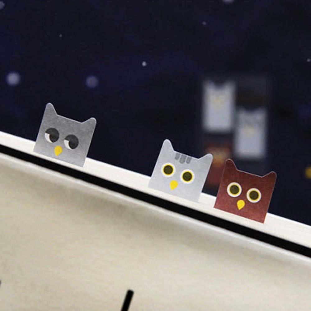 Cute Owl Bird Shaped Animal Themed Memo Post-it Sticky Bookmark Tabs