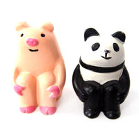 Adorable Panda Animal Hand Painted Figurine Paperweight | Home Decor | DOTOLY
