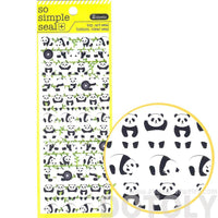 Adorable Panda Bear and Bamboo Shaped Animal Themed Stickers | 2 Sheets | DOTOLY