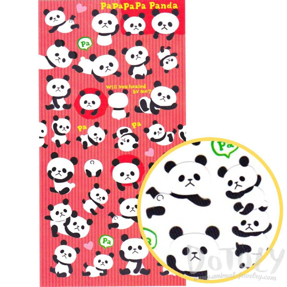 Adorable Panda Bear Animal Themed Stickers for Kids