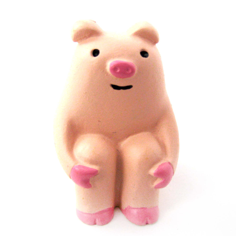 Adorable Piglet Piggy Animal Hand Painted Figurine Paperweight | Home Decor | DOTOLY