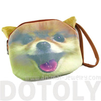 Pomeranian Face Shaped Clutch Bag Gifts for Dog Lovers