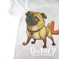 Adorable Pug Life Illustrated Graphic Print T-Shirt | DOTOLY | DOTOLY