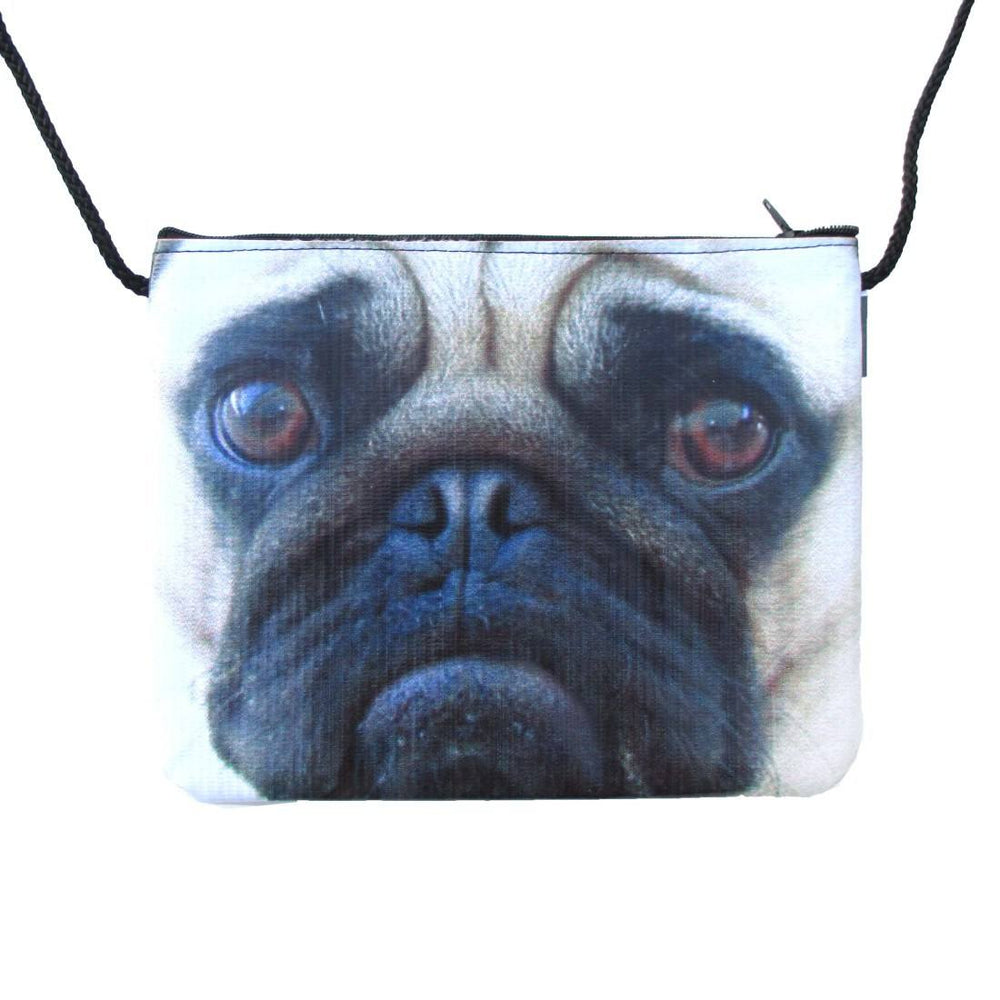 Pug Puppy Dog Face Print Shaped Cross Body Bag | Gifts for Dog Lovers