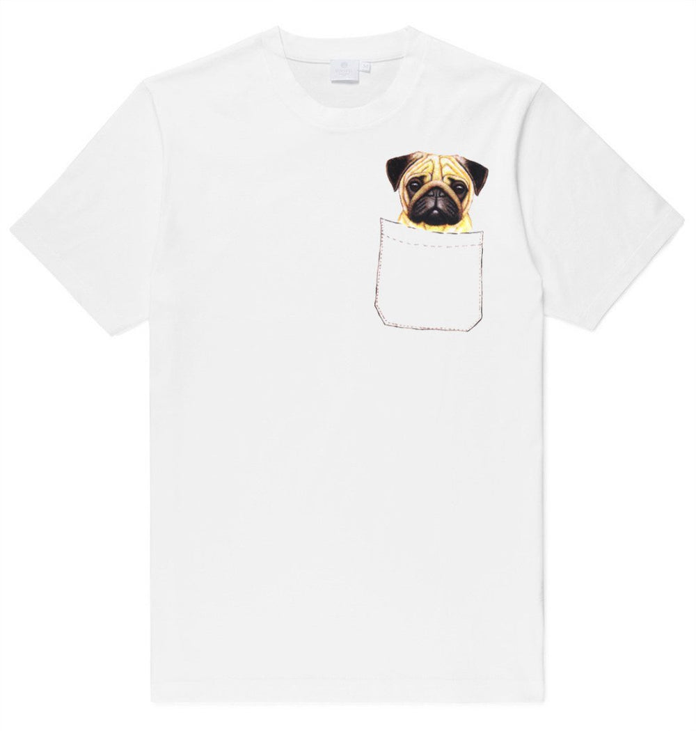 Adorable Pug Puppy in Your Pocket Graphic Print T-Shirt | DOTOLY