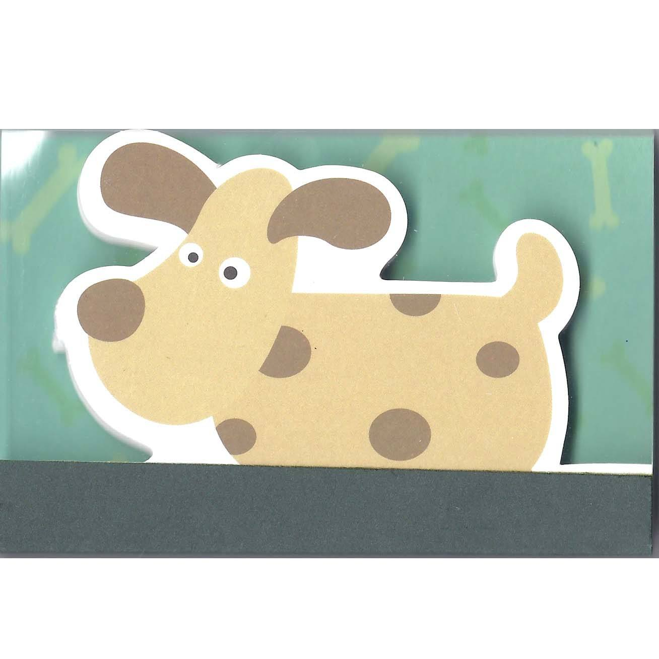 Adorable Puppy Dog Animal Shaped Memo Lined Notepad | 80 Pages