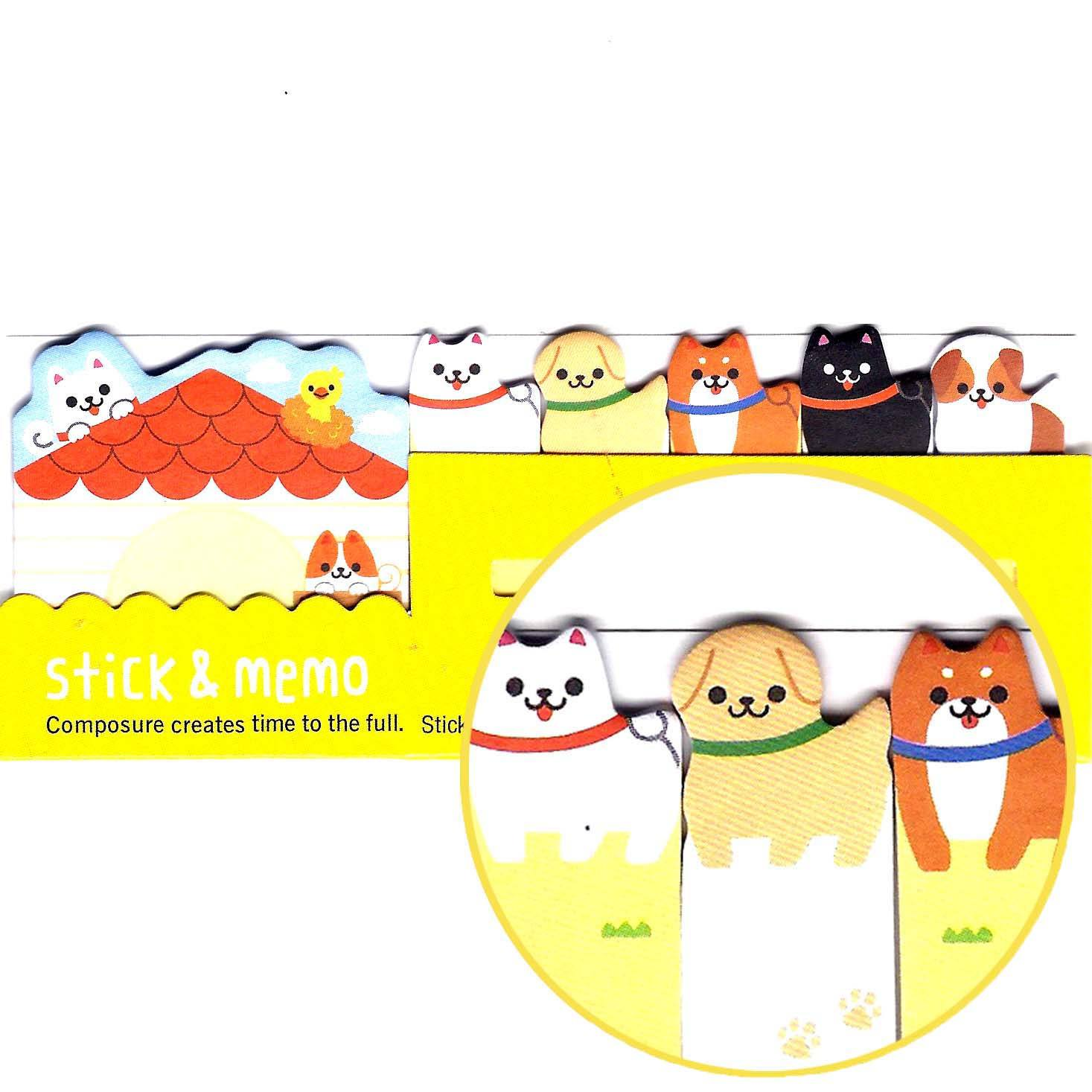 Adorable Puppy Dog House Animal Memo Pad Post-it Sticky Tab Bookmarks