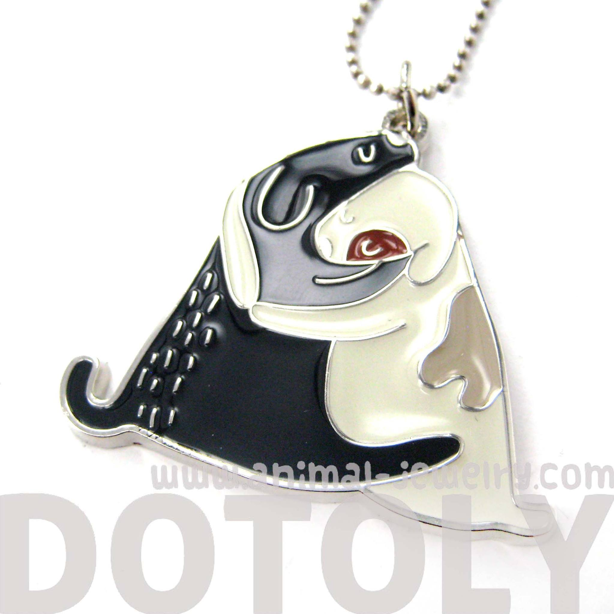 Adorable Puppy Love Dog Shaped Animal Hug Pendant Necklace | DOTOLY