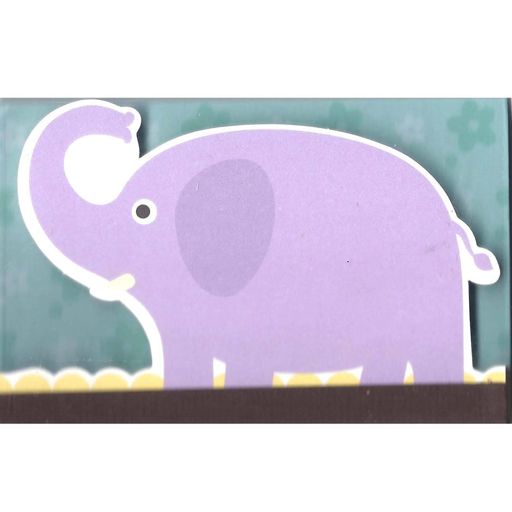 Adorable Purple Elephant Animal Shaped Memo Lined Notepad | 80 Pages