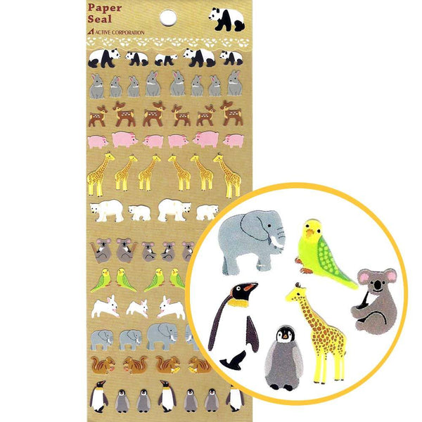 adorable-realistic-mixed-animal-illustration-stickers-for-scrapbooking-and-decorating