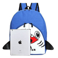 Shark Sea Monster Shaped Gym Rucksack Backpack in Blue