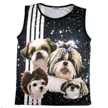 Adorable Shih Tzu Photo Graphic Print Oversized Unisex Tank Top