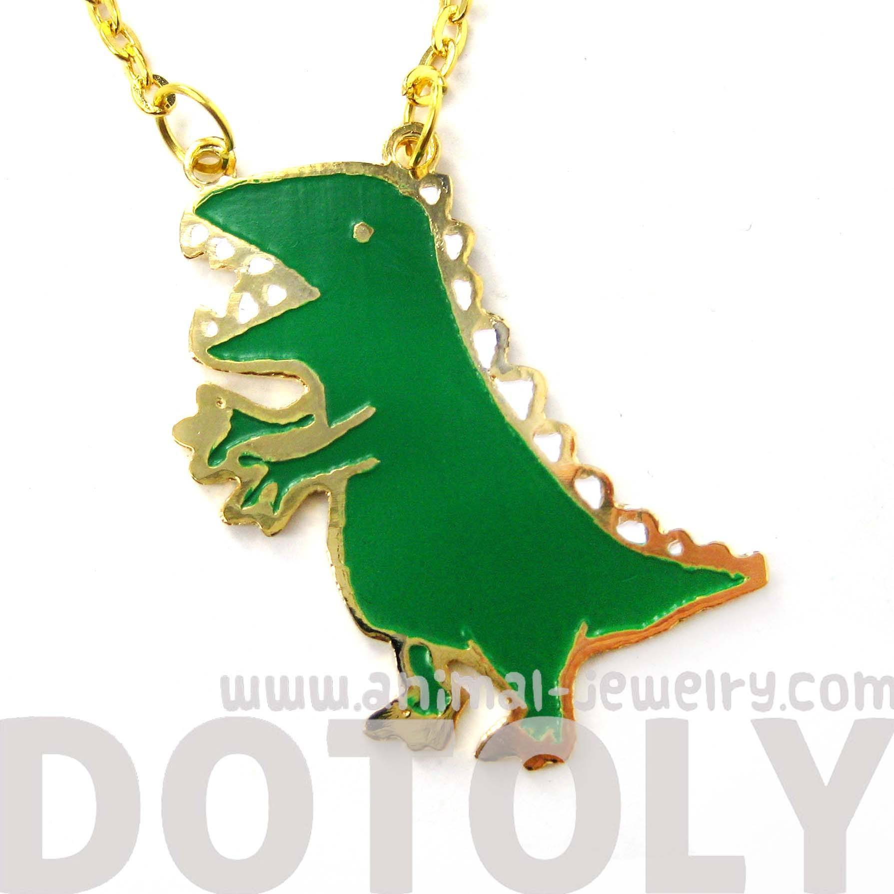 adorable-t-rex-dinosaur-shaped-animal-pendant-necklace-limited-edition