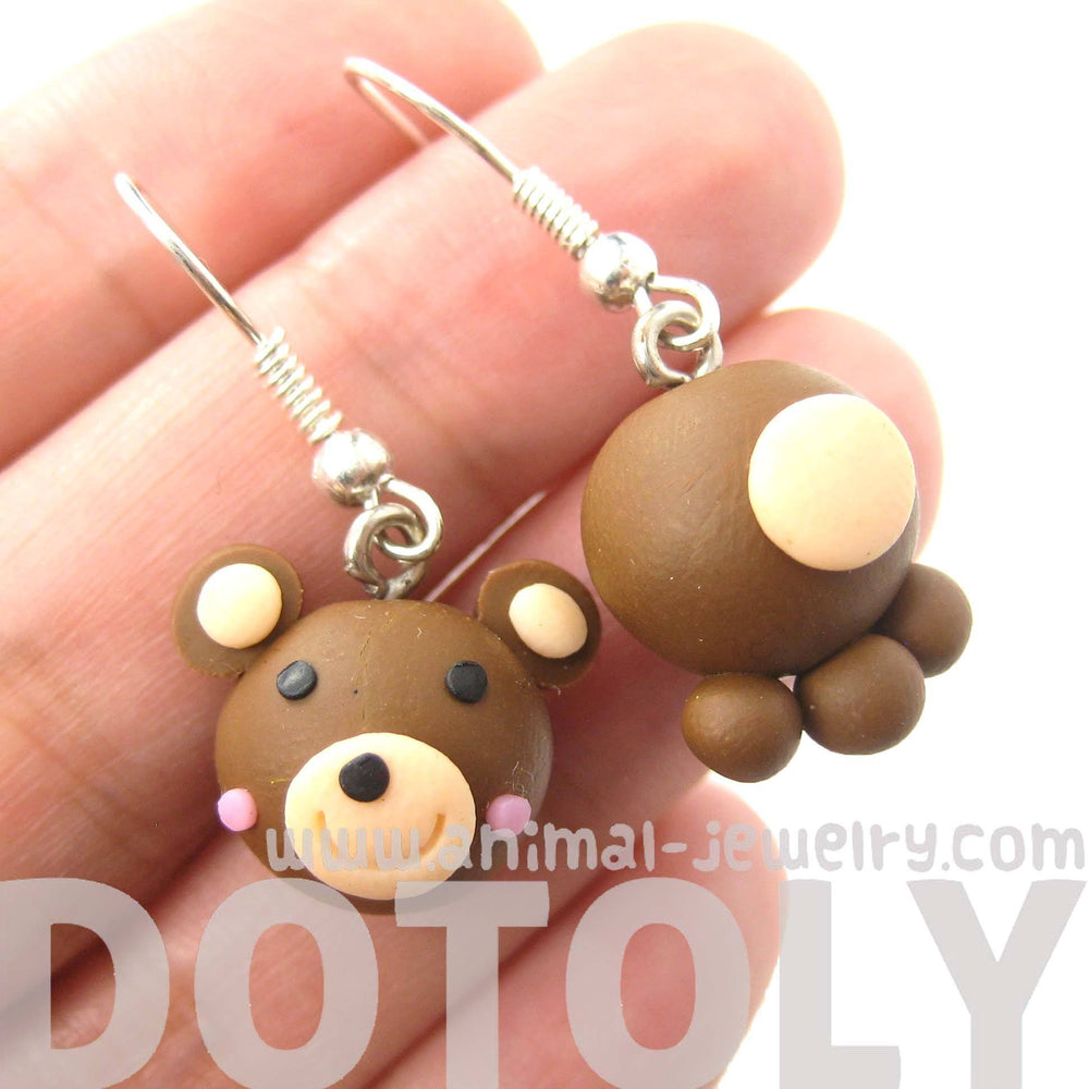 Adorable Teddy Bear Themed Polymer Clay Dangle Earrings | DOTOLY | DOTOLY