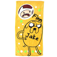 Adventure Time Finn and Jake Print Handkerchief Cotton Towel in Yellow