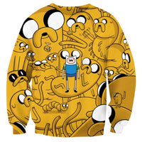 adventure-time-jake-and-finn-all-over-print-crew-neck-pullover-sweater-in-yellow-dotoly