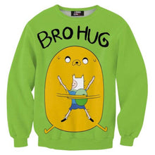 adventure-time-jake-and-finn-bro-hug-all-over-print-crew-neck-pullover-sweater-in-green-dotoly