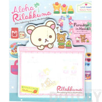 Korilakkuma Teddy Bear Shaped Hawaii Themed Adhesive Post-it Memo Pads