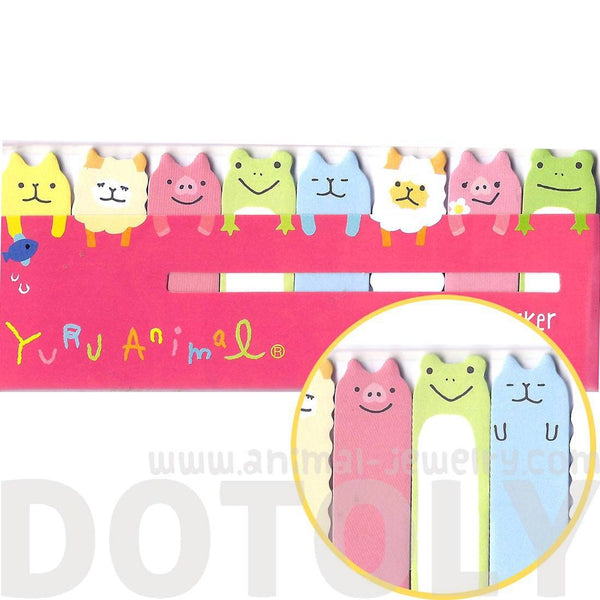 Alpaca Sheep Pig Frog Cat Shaped Animal Themed Memo Pad Post-it Index Sticky Bookmark Tabs | DOTOLY