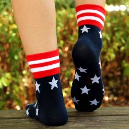 american-flag-star-print-googly-eye-flip-short-cotton-socks-for-women-dotoly