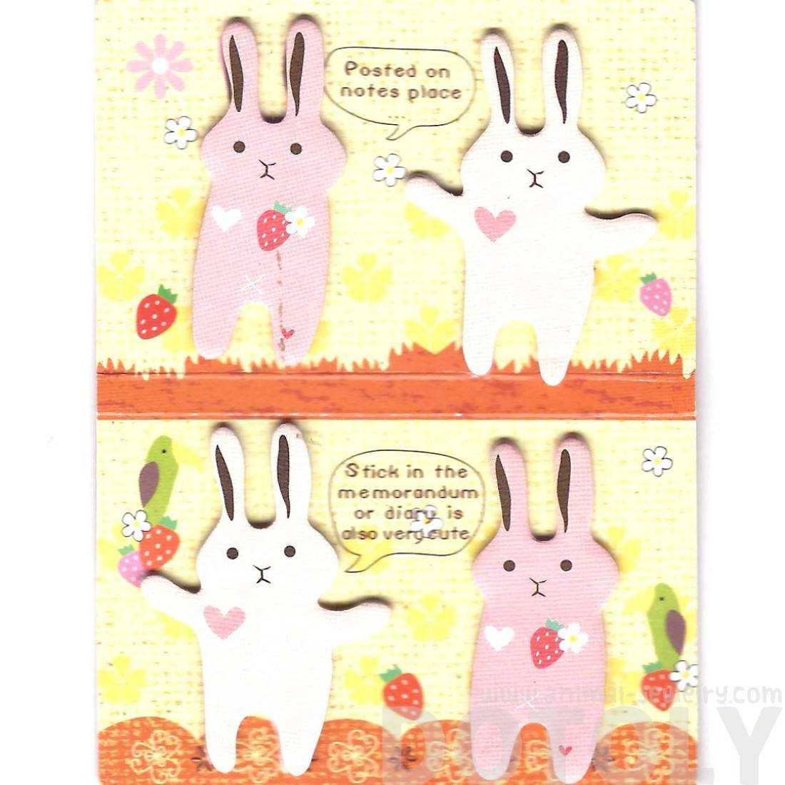 Animal Bunny Rabbit Shaped Memo Pad Post-it Index Tab Sticky Notes