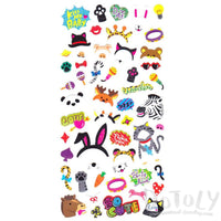 Animal Themed Photo Prop Costumes Shaped Stickers